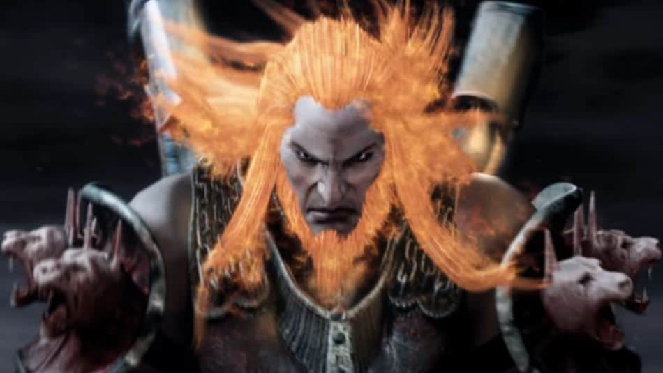 Final Boss Battle With Ares From God of War On PlayStation 2