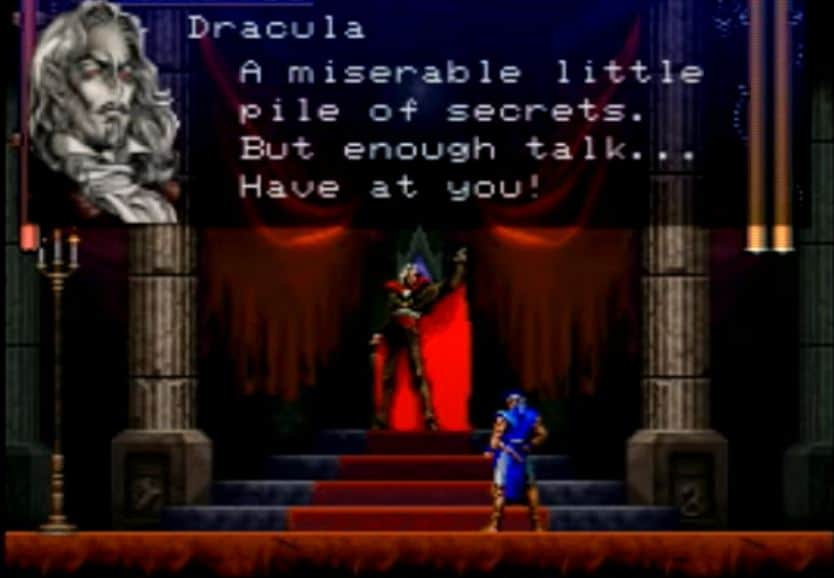 Dracula fight From Castlevania Symphony Of The Night