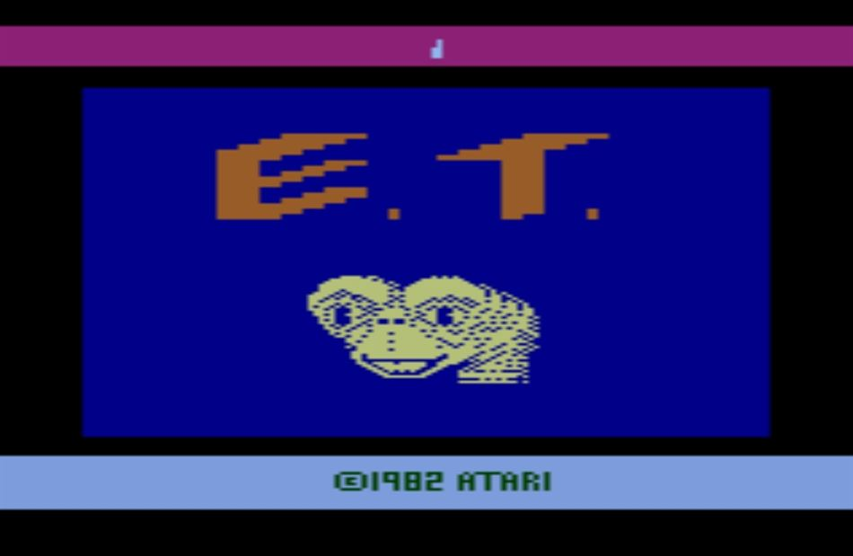 Title screen for the ET game