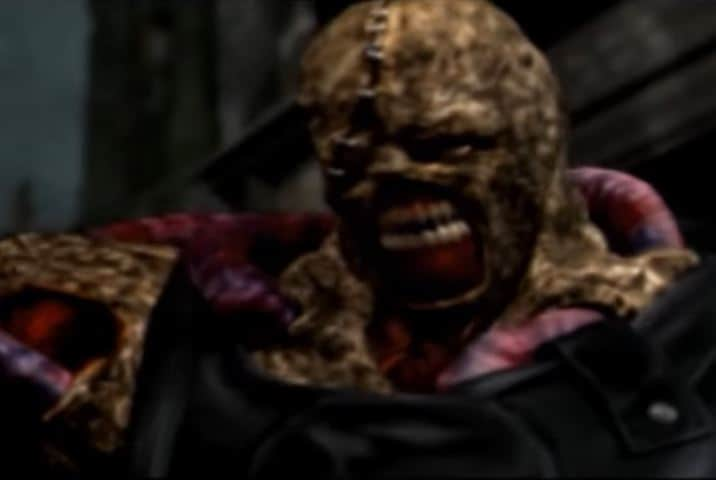 Nemesis fight From Resident Evil 3 on the Sony PlayStation