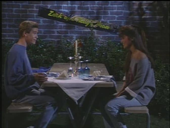 Zack and Kelly in Saved by the Bell The Prom Episode
