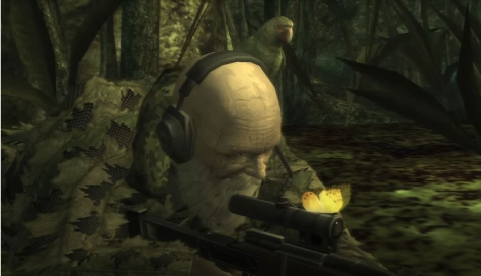 The End boss Fight From Metal Gear Solid 3 Snake Eater On PS2