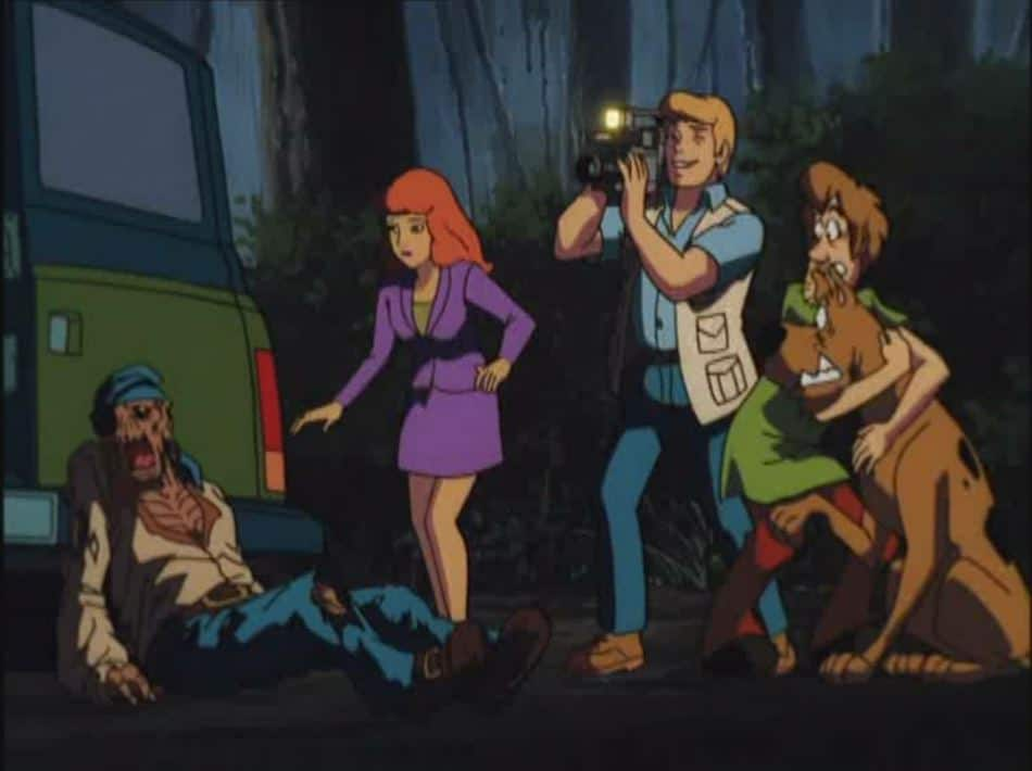 Mystery inc, finds a zombie in Scooby-Doo on Zombie Island