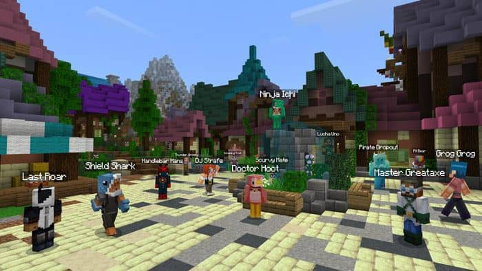 A group of Minecraft players