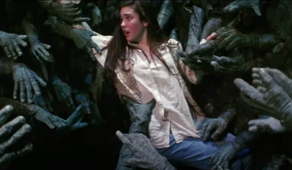 Scary scene from the Labyrinth movie