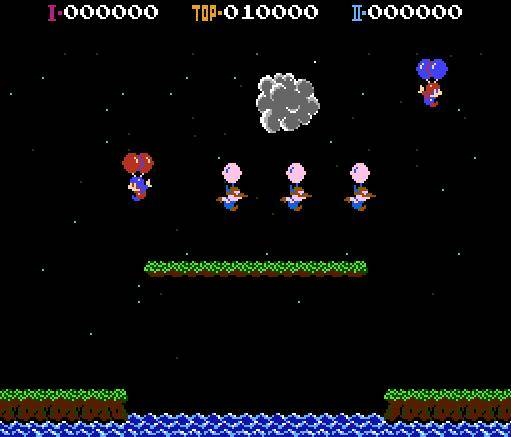 Balloon Fight is one of the best multiplayer games for NES
