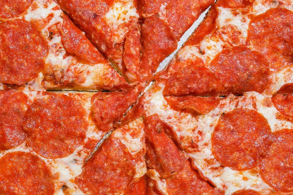 Delicious Deep Dish Peperoni Pizza