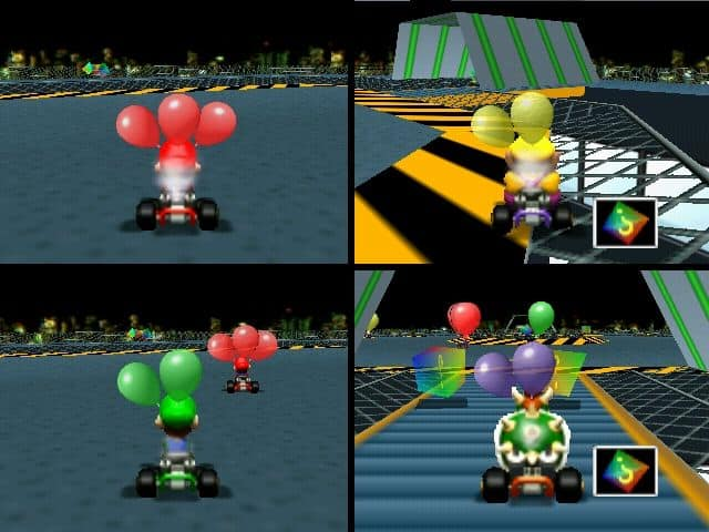 Playing Super Mario Kart on Nintendo 64