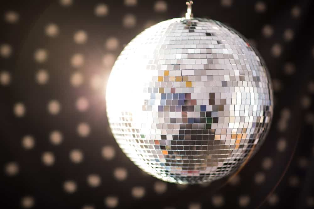 Close Up of the Mirrors on a Disco Ball